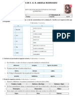 Evaluacion Primer Quimestre CCSS 9NO
