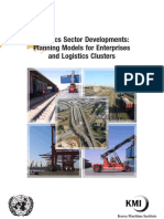 Logistics Sector Developments Planning Models for Enterprises and Logistics Clusters