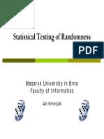 2005 PA168 Statistical Testing Slides