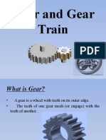Gear and Gear Train