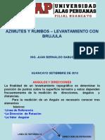 Azimutes y Rumbos- Levantamiento Con Brujula[1]