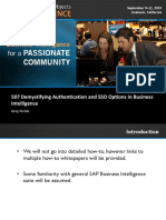 0506 Demystifying Authentication and Single SignOn SSO Options in Business Intelligence