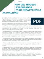 Surgimiento Del Modelo Primario Exportador Mexicano y Su Impacto en La Actualidad