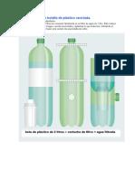 Filtro de Agua Con Botella de Plástico Reciclada