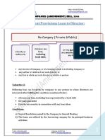 Provision of Loan to Director - Companies Amendment Bill 2016