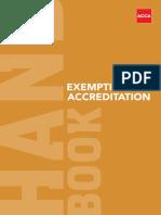 Exemption Accreditation Handbook