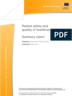 Patient Safety and quality of healthcare summary