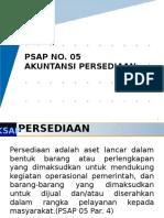 PSAP 05 Akuntansi Persediaan