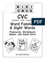 48 CVC at Family Worksheets