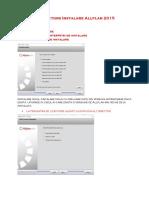 Instructiuni Instalare Allplan 2015