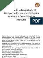 Calculo de La Magnitud y El Tiempo de Asentamientos Por Consolidacion Primaria