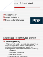 Characteristics of Distributed System