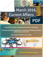 18  March 2016 Current Affairs for Competition Exams