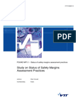 Study on Status of Safety Margins Assessment Practices -- VTT-R-06265-15