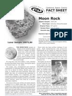 Moon Rock Fact Sheet
