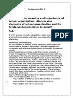 School Organization Asgmt No 1