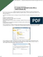 Configurar Nuestra Cuenta de Hotmail (Live ID) y Gmail en Outlook 2010 (Parte II) - Checho's Blog