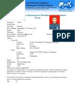 Member SPE Registration Form