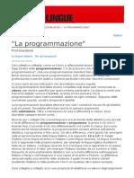 Programmazione corso italiano