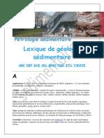 Lexique de Géologie Sédimentaire