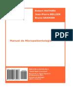 Livre Manuel de Micropaleonthologie
