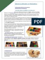 Materiales Didácticos Utilizados en Matemática