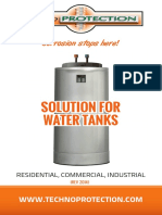 Solution for Water Tanks Techno Protection