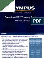 MX2 Training Program 04D Material Velocity