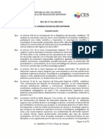 Reglamento de Armonizacin de La Nomenclatura de Ttulos Profesionales y Grados Acadmicos Que Confieren Las Instituciones de Educacin Superior Del Ec_1
