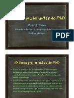 Criterios 10 Livros Phd