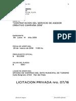 Licitacion Privada 07-2016