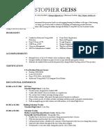 kyle geiss resume redacted