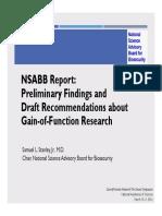 NSABB Report