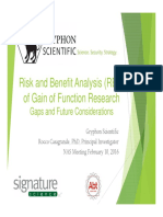 Risk and Benefit Analysis (RBA) of GOF Research