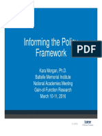 Informing the Policy Framework (Kara Morgan)