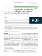 An updated review of case-control studies of lung cancer and indoor radon-Is indoor radon the risk factor for lung cancer?