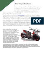 Teknik Modifikasi Motor Tampak Kian Keren