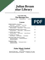 BREAM, J. - The Julian Bream Guitar Library - Vol 1 the Baroque Era