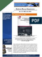 Boletin Nuevas Adquisiciones CD_CISH Marzo