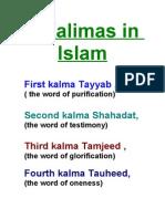 6 Kalimas in islam