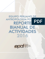 EPAF Reporte Bianual de Actividades 2016