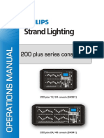 Strand 200 Plus Lighting Console User's STR64331B