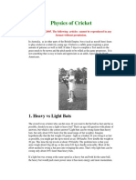 cricket ball force