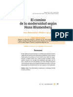 Blumenberg-Modernidad