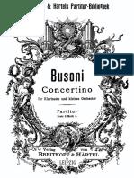Busoni Clarinet Concertino Op.48 Fullscore