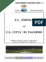 Empoli Palermo 30giornataseriea
