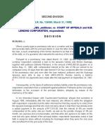 Estrella Palmares, Petitioner, Vs. Court of Appeals and m.b. Lending Corporation, Respondents