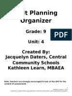 grade 9 unit plan 2