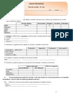 Ficha de Revisão de Portugues
