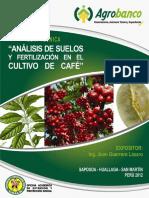 Analisis de Suelo y Fertilizacion en Cafe